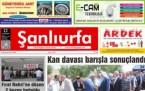 22 Haziran Şanlıurfa Gazete Manşetleri