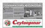 31 Ağustos Şanlıurfa Gazete Manşetleri