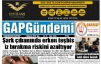 7 Ağustos Şanlıurfa Gazete Manşetleri