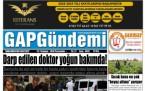 19 Temmuz Şanlıurfa Gazete Manşetleri
