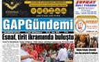 22 Eylül Şanlıurfa Gazete Manşetleri - 2018