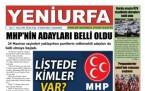 19 Mayıs Şanlıurfa Gazete Manşetleri