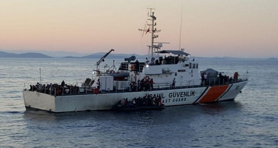 149 düzensiz göçmen Türk Sahil Güvenlik botlarınca kurtarıldı