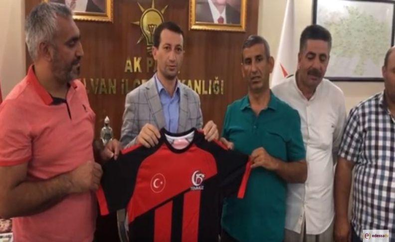 15 Temmuz Spor Kulübü'nden AK Parti İlçe Başkanına ziyaret(videolu)