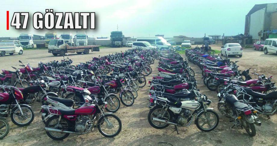 170 Adet çalıntı motosiklet ele geçirildi