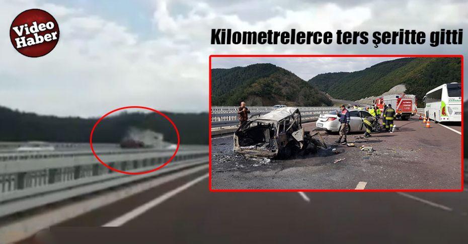 2 Kişinin feci şekilde öldüğü korkunç kaza kamerada!