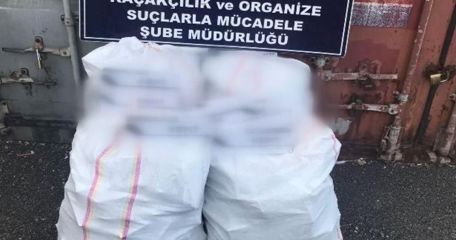 3 bin 370 paket kaçak sigara ele geçirildi