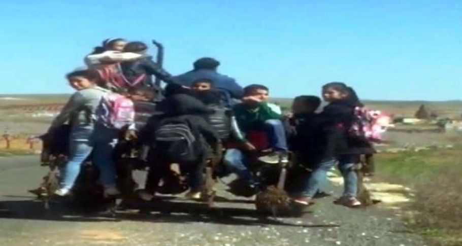 9 öğrenciyi traktörde taşıyan sürücüye şok ceza