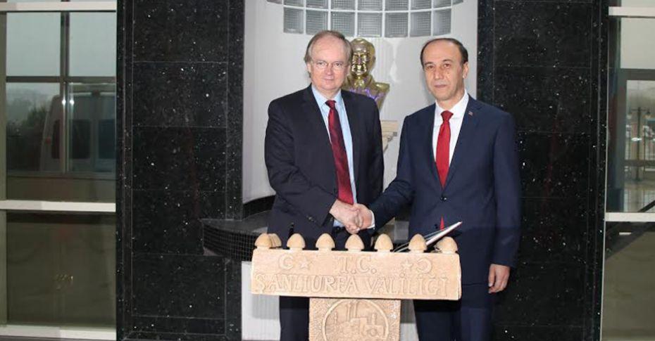 (AB) Türkiye Delegasyonu Başkanı, Vali Erin'i ziyaret etti