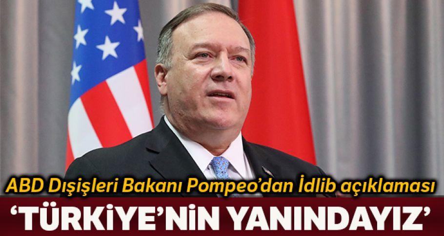 Pompeo: 'NATO müttefikimiz Türkiye'nin yanındayız'