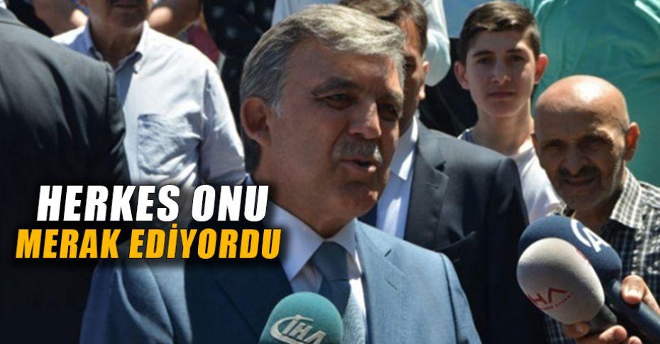 Abdullah Gül'den son dakika erken seçim açıklaması