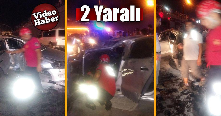 Abide kavşağında trafik kazası!