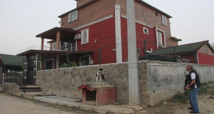 Adana'da pitbullarla korunan şatoya veterinerli polis baskını