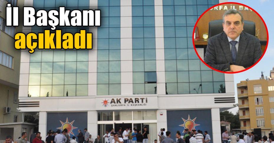 AK Parti Şanlıurfa ilçe kongre tarihleri belli oldu
