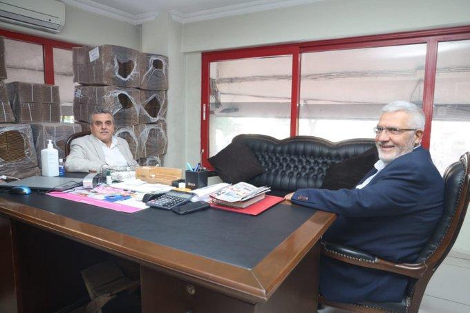 AK Partili Beyazgül'den SP'li başkana ziyaret