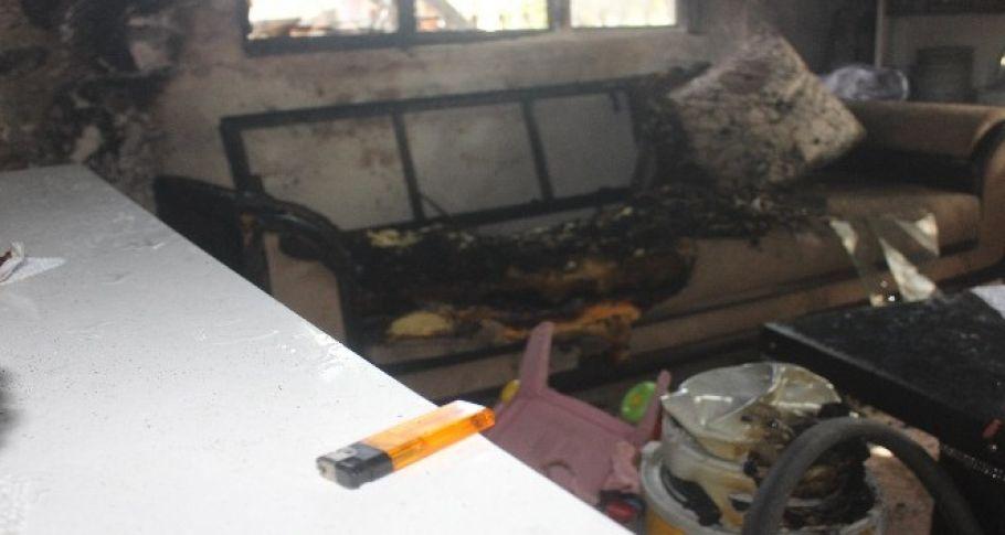 Alevler arasında kalan 2 kardeş ağır yaralandı
