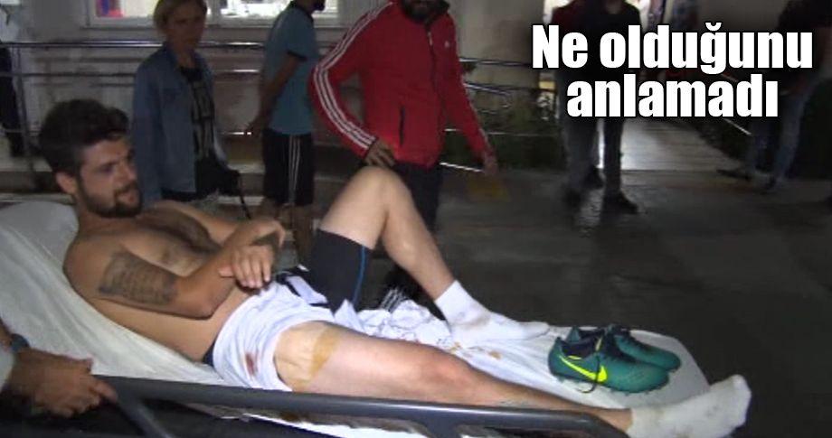 Amatör futbolcu, 'yorgun mermi' ile vuruldu
