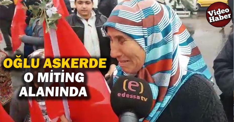 Asker annesinden 'Zeytin Dalı' ile destek!