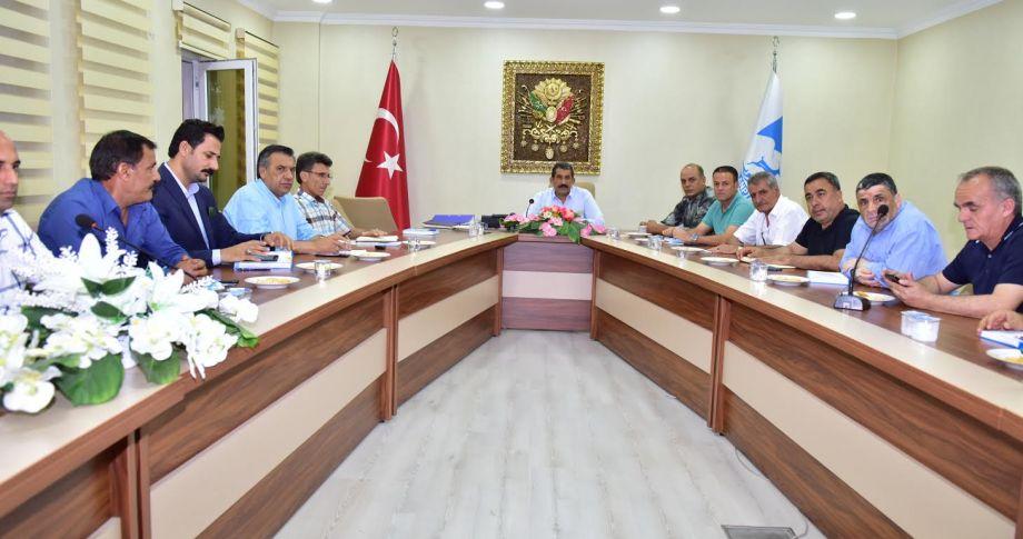 Atilla , Birim Müdürleri ile Toplantı Yaptı
