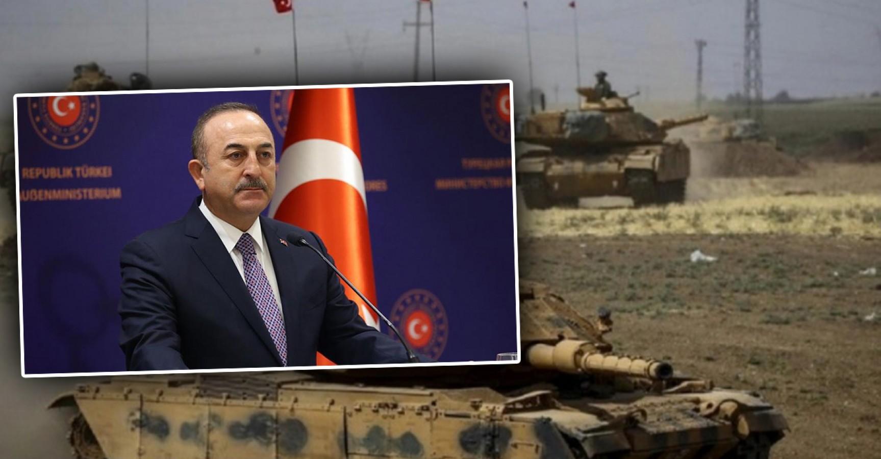 Bakan Çavuşoğlu'ndan Suriye'ye yeni askeri harekat sinyali