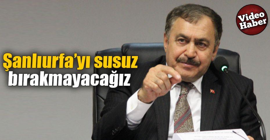 Bakan Eroğlu'ndan 'kuraklık' açıklaması