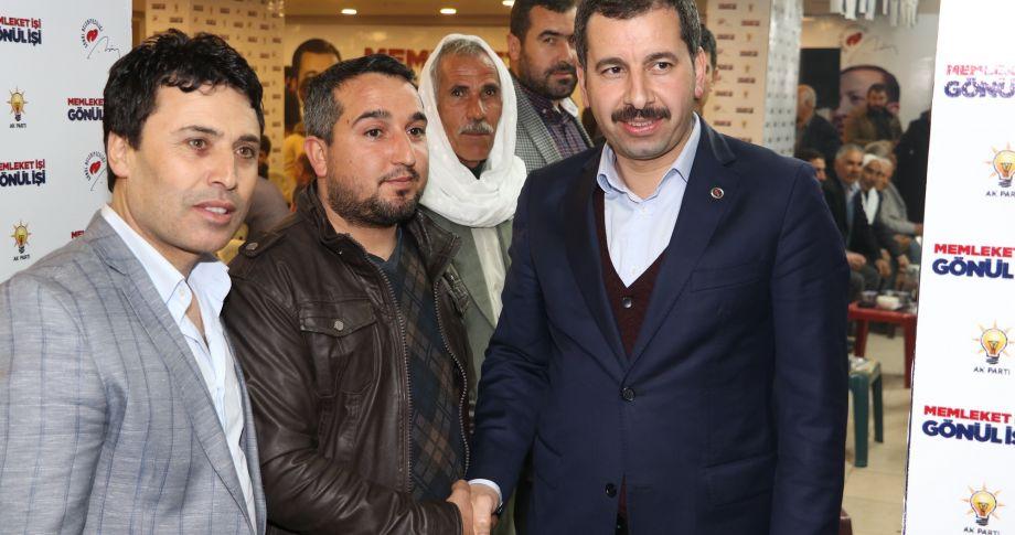 Başkan Adayı Baydilli'nin seçim bürosunda vatandaşlara hitap etti(videolu)