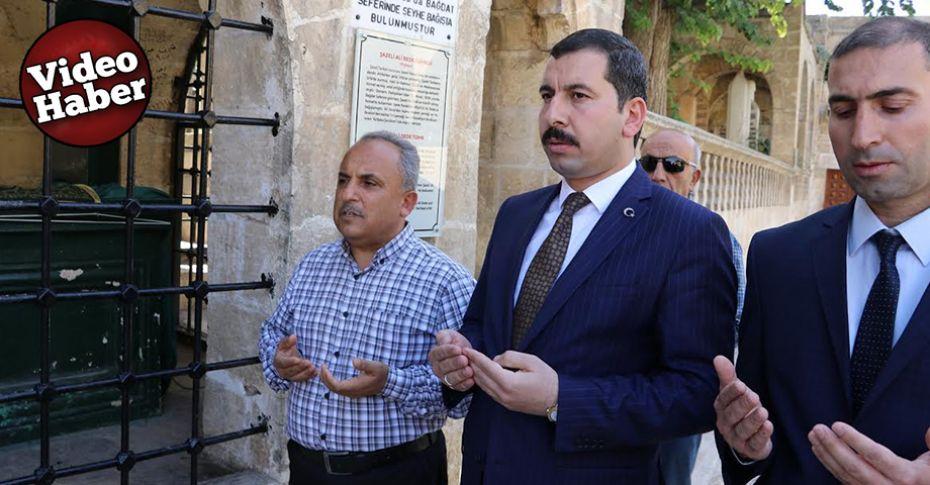 Başkan Baydilli'den Ali Baba'nın türbesine ziyaret