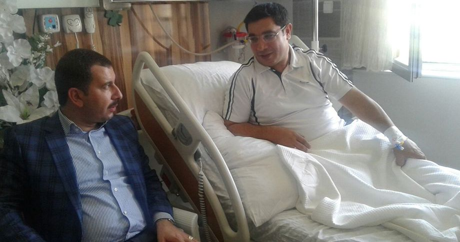 Başkan Baydilli'den Faruk Günak'a 'geçmiş olsun' ziyareti
