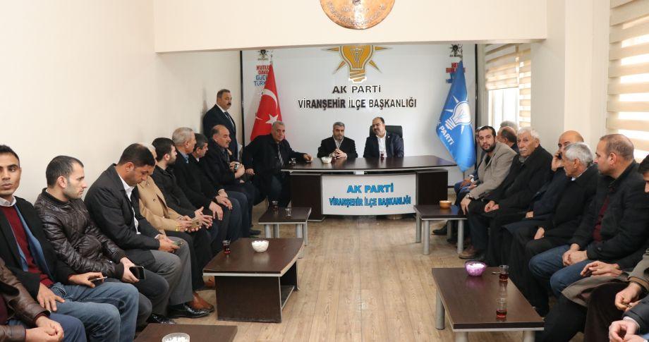 Başkan çiftçi, viranşehir'de parti teşkilatı ile uluştu