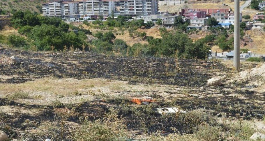 Besni'de anız yangını korkuttu