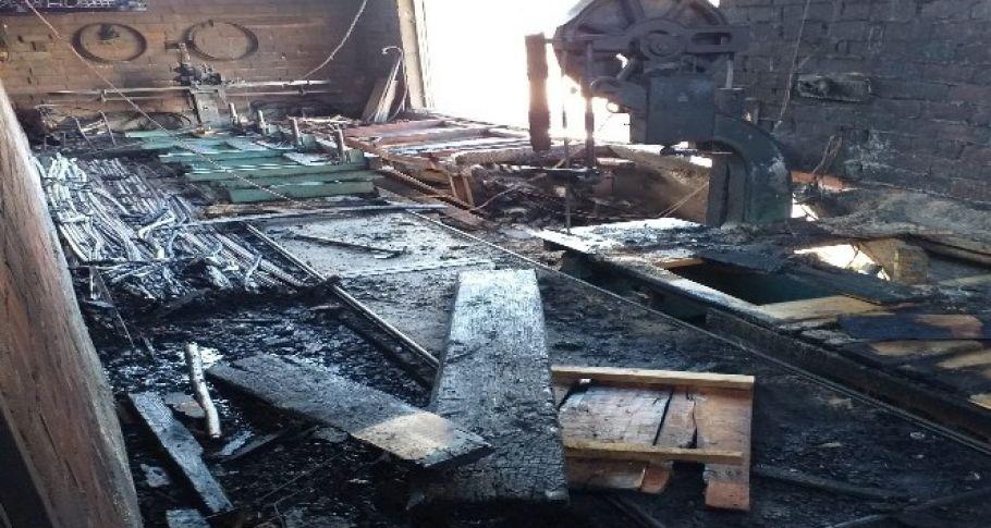 Bingöl'de atölye yangını