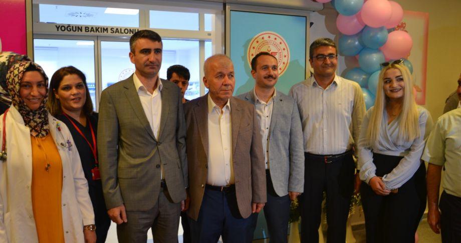 Birecik Devlet Hastanesinde 10 Yataklı Yenidoğan Yoğun Bakım Ünitesi hizmete açıldı.
