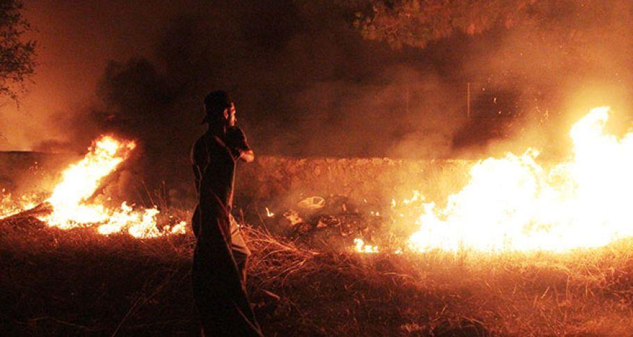 Bodrum'da alevli gece mahalle sakinleri korku dolu anlar yaşadı