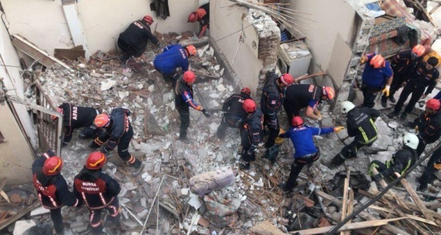 Bursa'da doğalgaz patlaması: 1 ölü, 2 yaralı