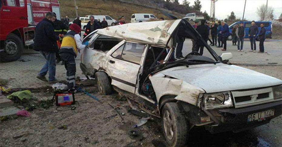 Bursa'da trafik kazası: 1 ölü, 1 yaralı...