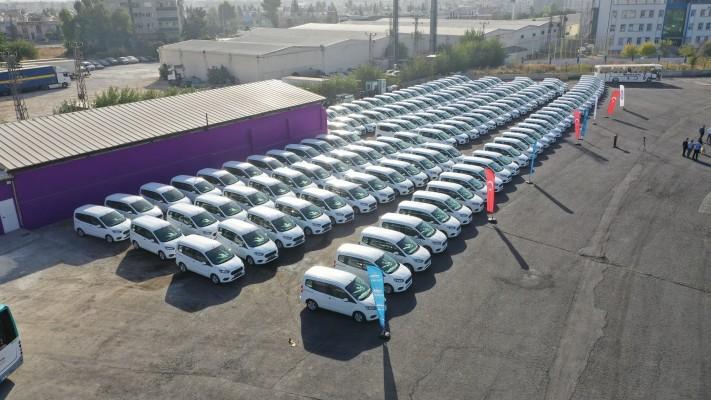 Büyükşehir'de 155 araç yenilendi