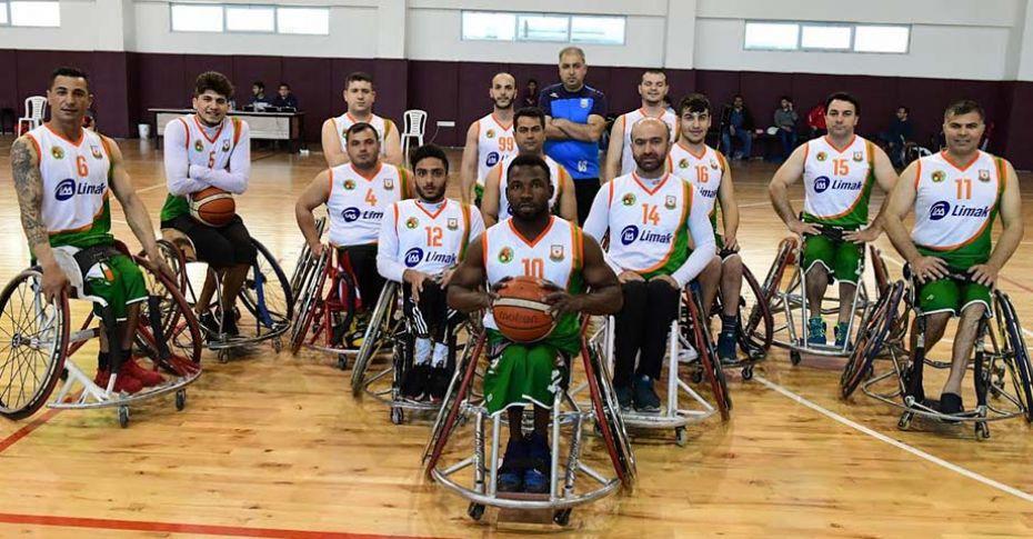 Büyükşehir Engelli Basketbol takımı, yoluna dolu dizgin devam ediyor