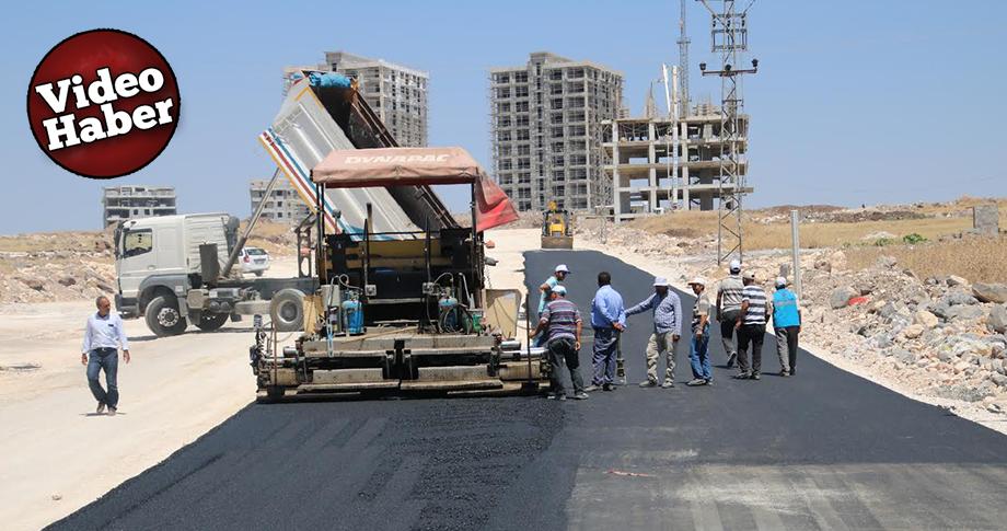 Büyükşehir yeni yerleşim alanları sıcak asfalt buluştuyor
