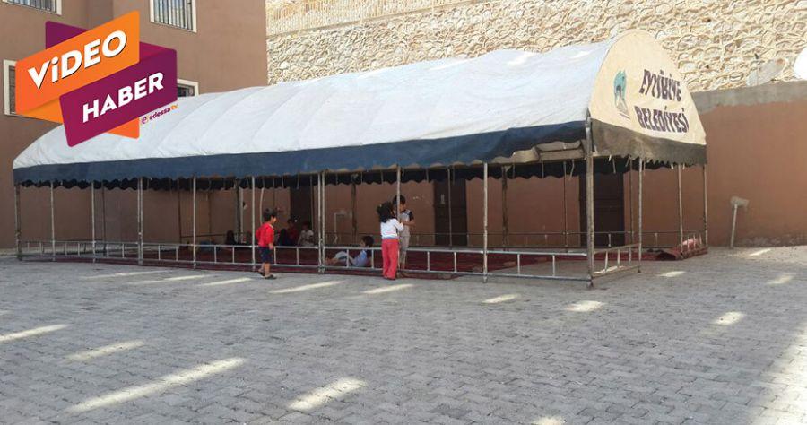 Camisi olmayan mahalleye çadır kuruldu