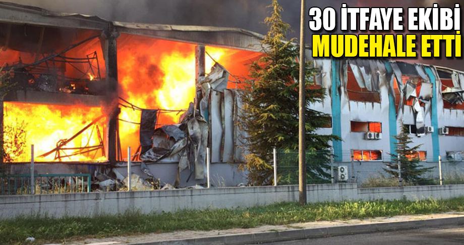 Çerkezköy'de büyük yangın!