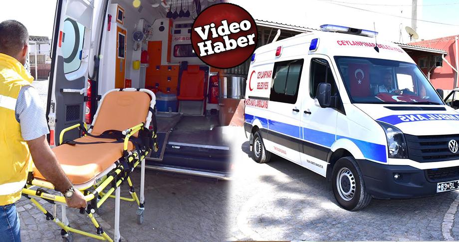 Ceylanpınar Belediyesinden ücretsiz ambulans hizmeti