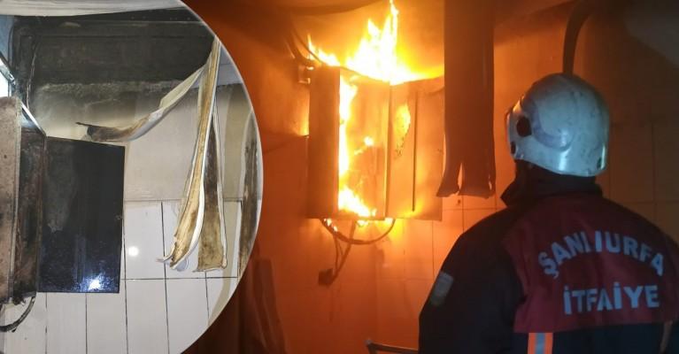Ceylanpınar'da fabrikada yangın