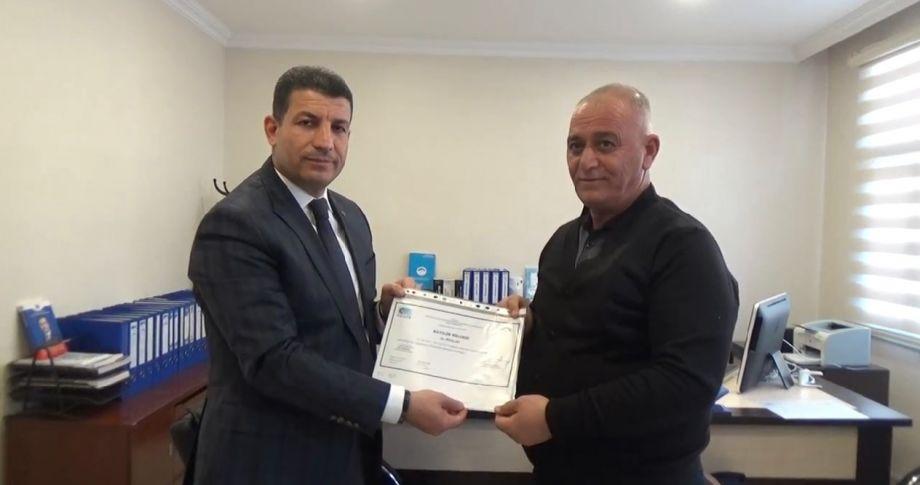 Ceylanpınar 'da sertifika dağıtım töreni