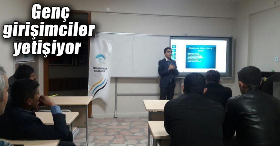 Ceylanpınar'da girişimcilik kursu tamamlandı