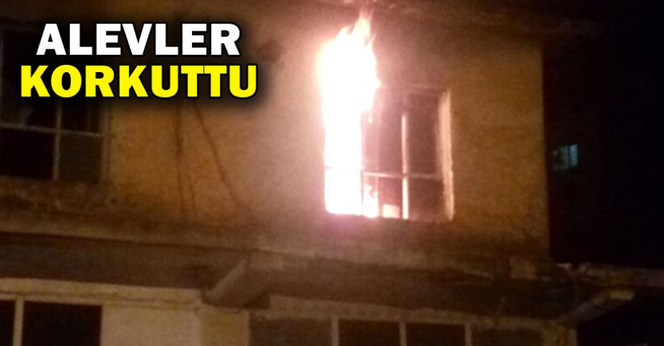 Ceylanpınar'da metruk binada yangın çıktı