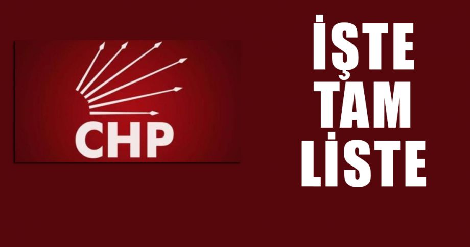CHP Şanlıurfa Milletvekili Aday Adayları belli oldu