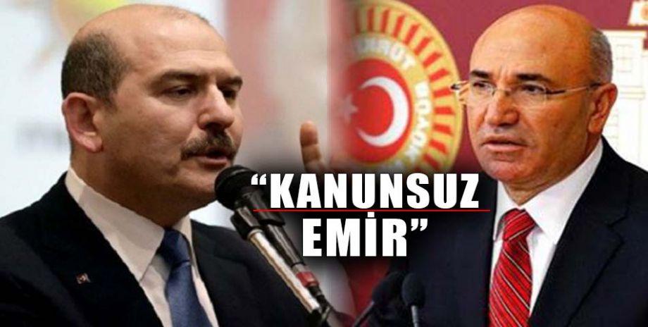 CHP'li Tanal'dan İçişleri Bakanı Soylu'ya sert sözler
