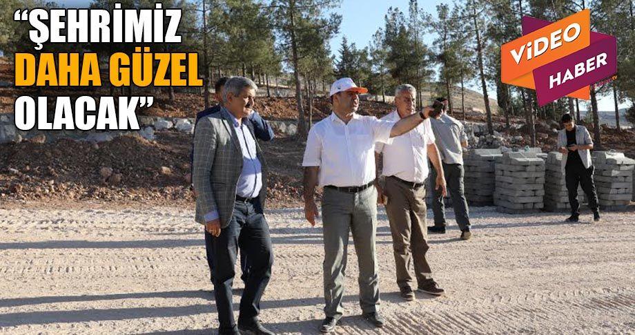 Çiftçi, Eyyübiye'deki mesire alanını inceledi