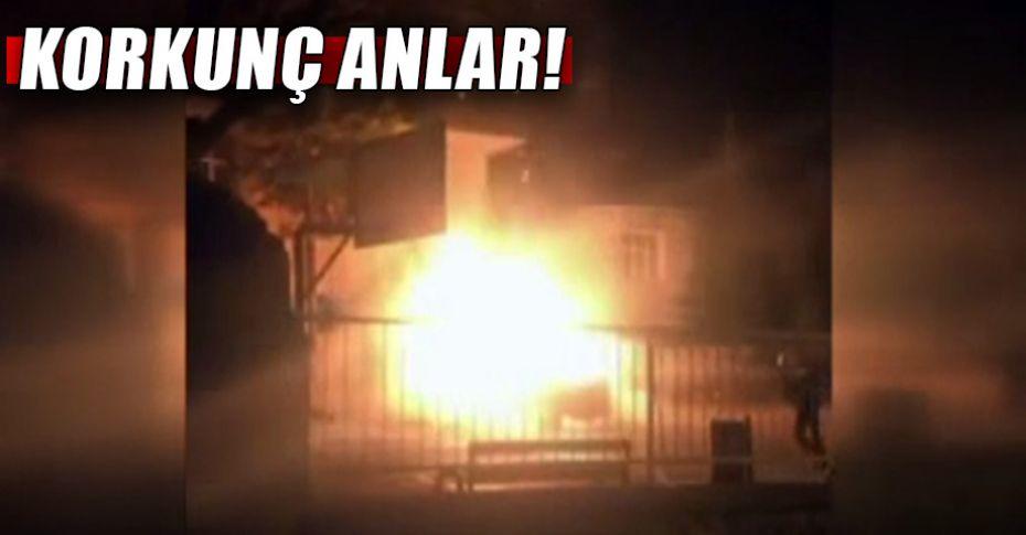 Cinnet geçiren adam evini ve arabasını ateşe verdi!