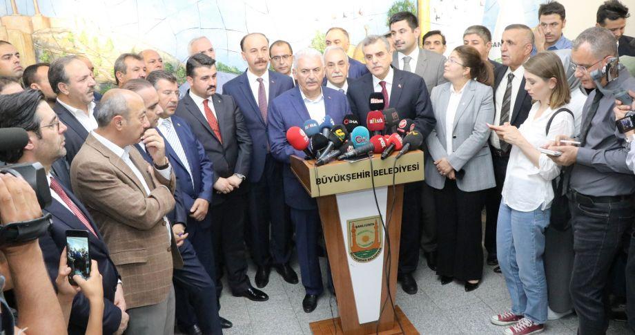 Cumhur İttifakı İstanbul Adayı Yıldırım Şanlıurfa'da